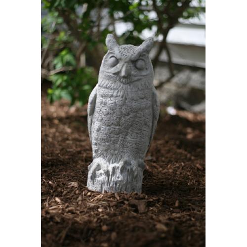 Large Concrete Garden Owl Statue